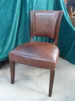 Aged Leather Desk Chair