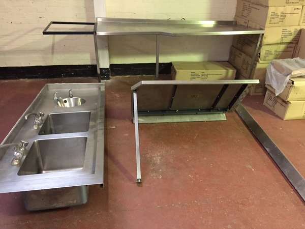 Stainless Steel Sink and Table Unit