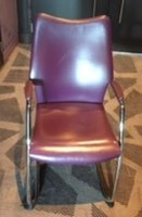 Plum / Purple Leather Conference Chair