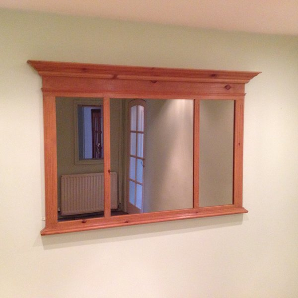 Custom made Mirror, light to medium Oak