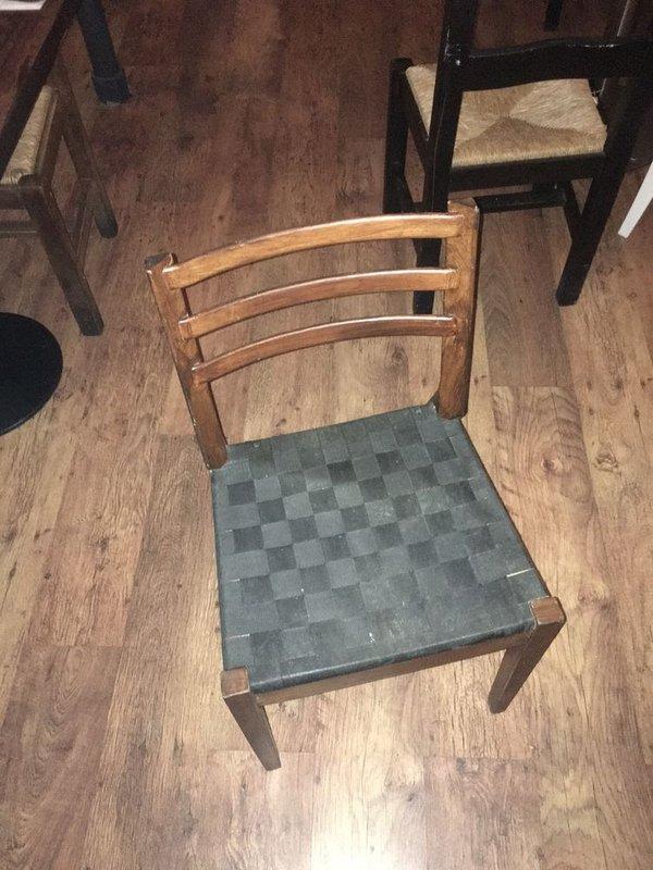 Dark Wood Restaurant Chairs