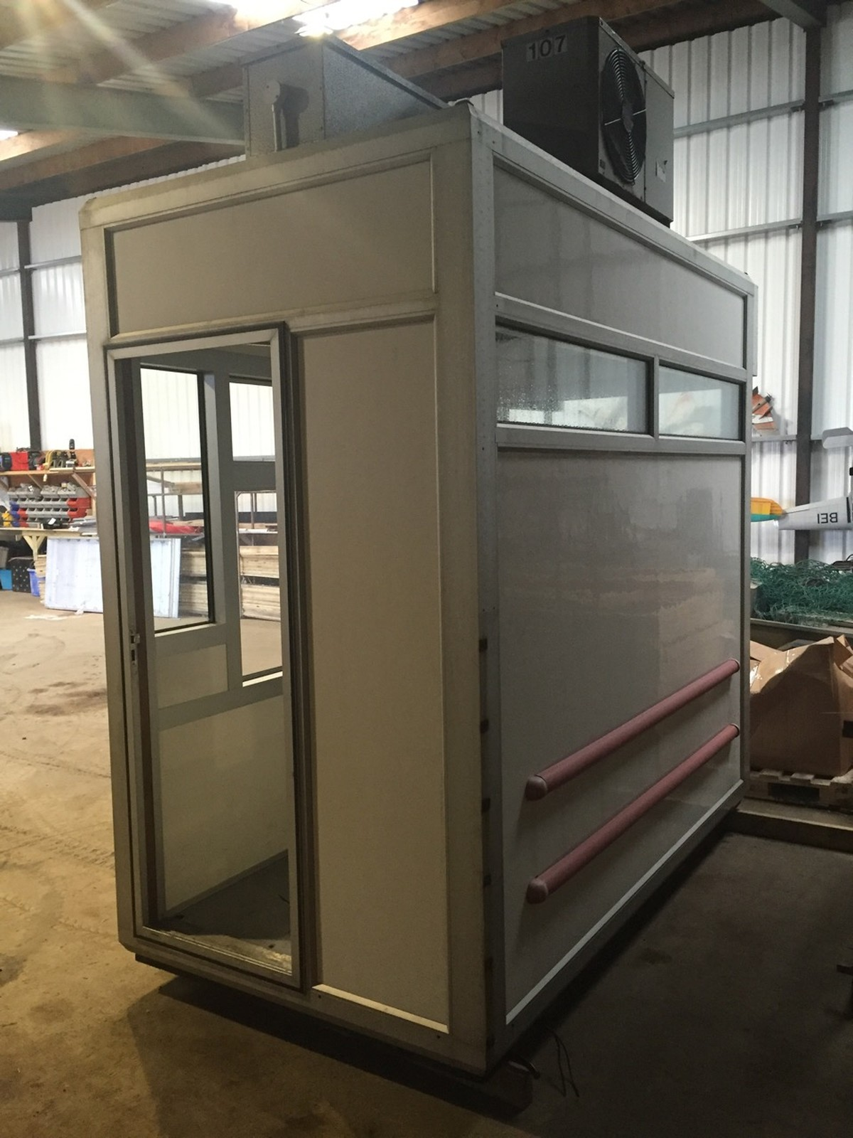 Secondhand Portable Buildings Security Cabin And Ticket