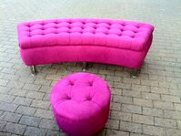 hot pink seating set