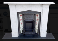 original antique Marble Fireplace Surround