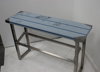 New Stainless Steel Bench Gantry with Straight/Sloping Shelf 1000W x 300D x 650H (mm)