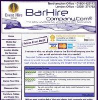 Mobile Bar Website for Sale