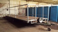 flatbed trailer portable toilet transporter