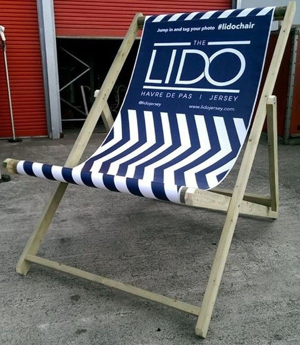 Promotional branded deck chairs