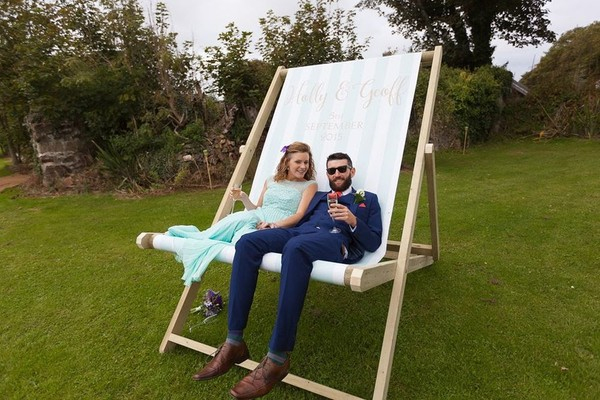 Wedding prop deck chair