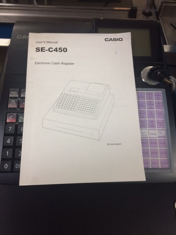 SE c450 Casio cash register