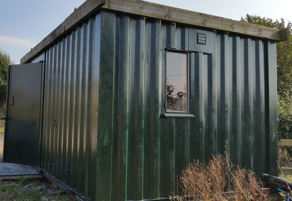 Green toilet and shower block
