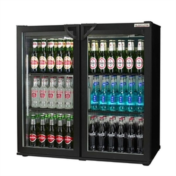 Double door under counter bottle fridge