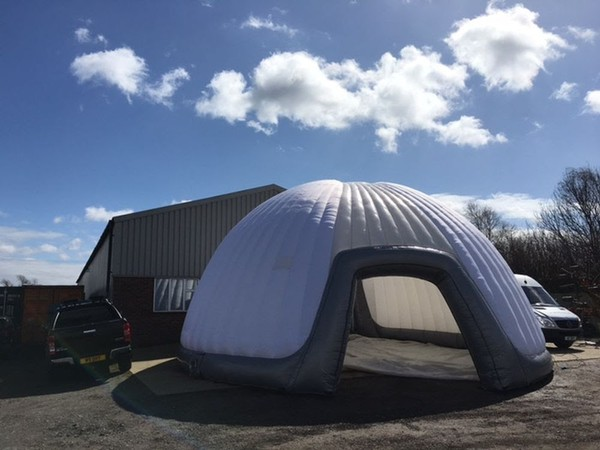 Inflatable dome marquee