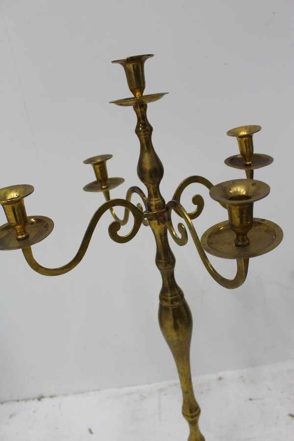 Brass Plated Candelabra