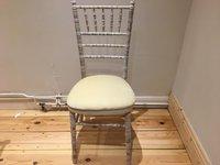 Chivari banqueting chair ivory seat pads