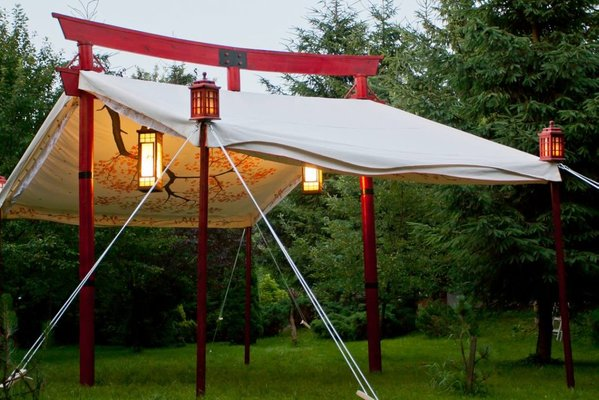 6.40m x 4m Torii Tent & Curlew - SecondHand Marquees | Unusual Marquees