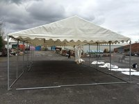 Clear-span framed marquee