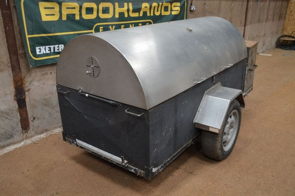Stainless Steel Towable Gas Oven Trailer - Barbeque / Hog Roaster
