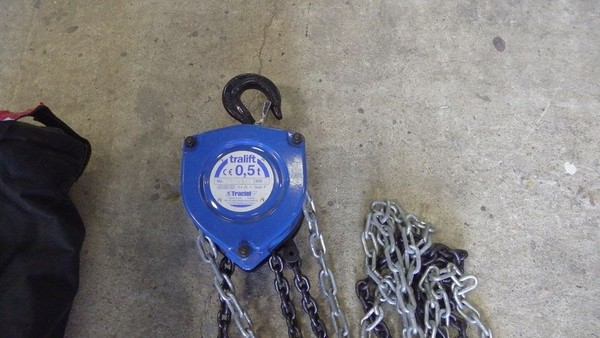 Tractel 0.5 tonne Manual Chain Hoists x 4