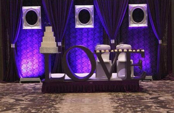'Love' Top Table Centrepiece