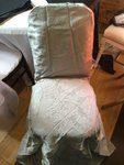 Silver full brocade chair covers