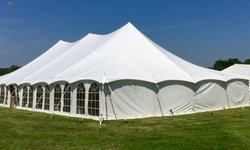 40ft x 100ft PVC traditional marquee