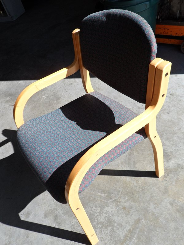 Conference Chair / Coloured Check Fabric x 3