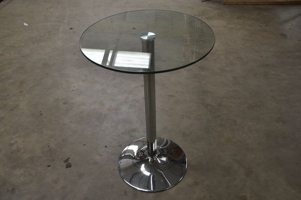 Glass Top Poseur Tables