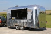 Brand new polished Aluminium 16ft / 6m Retro Catering Trailer
