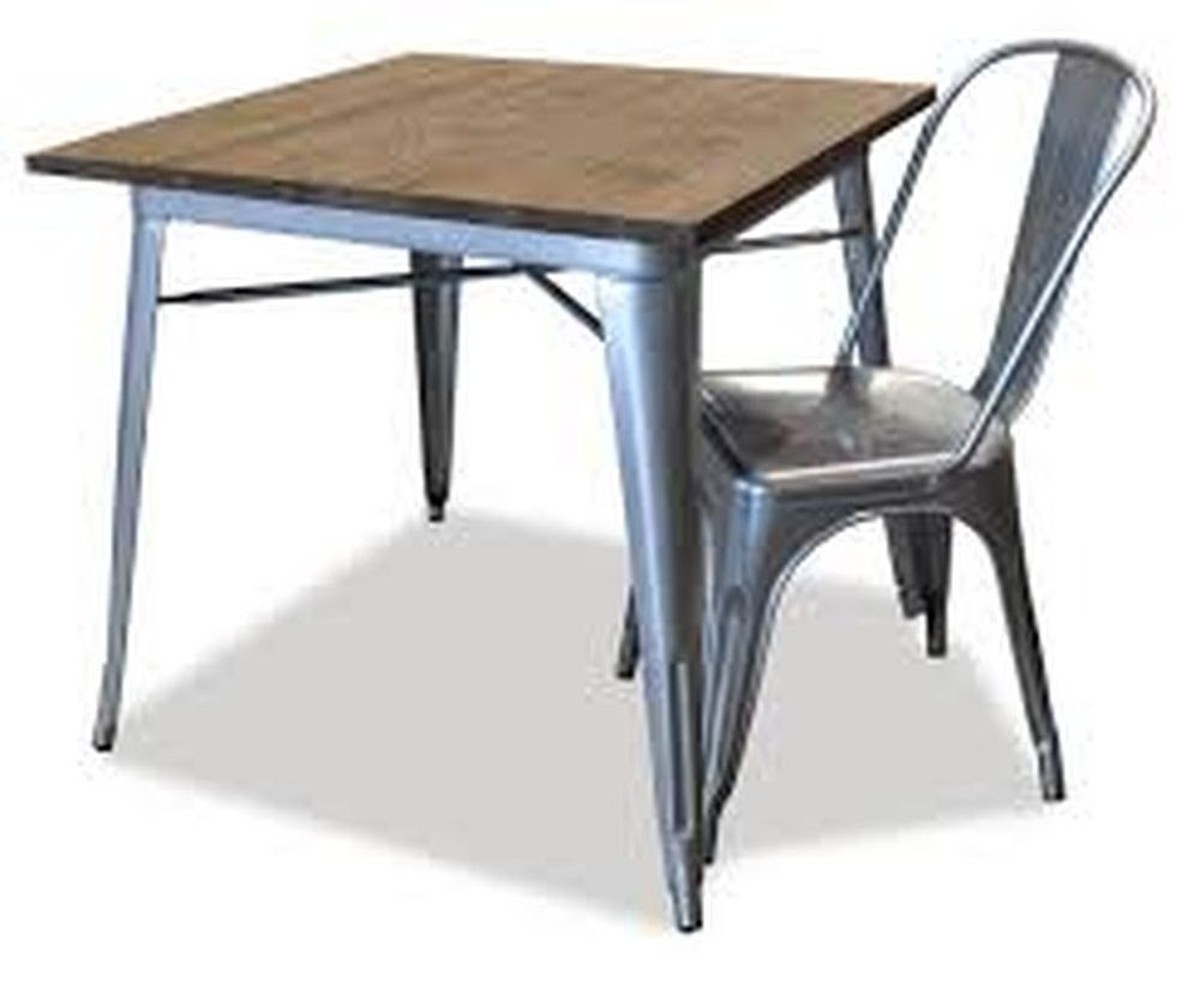 Secondhand pub equipment tables tolix style wooden