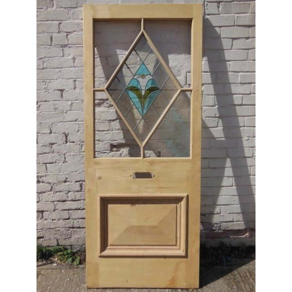 EXT 103 - Original Glass Door for Exterior partially stained glass