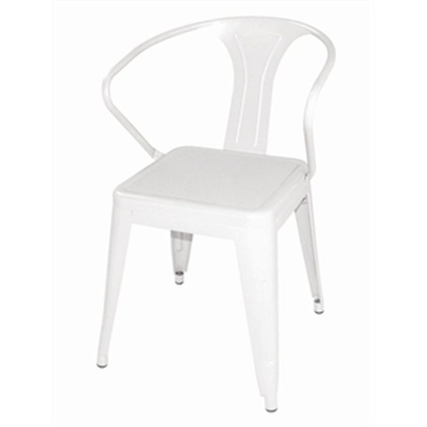Brand New White Tolix Chairs With Arms