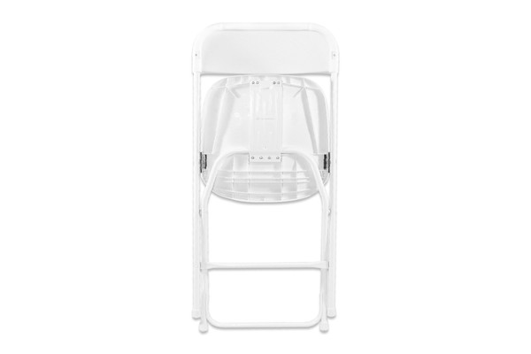 Bulk order of folding white chairs