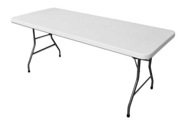 White blow moulded trestle tables for sale