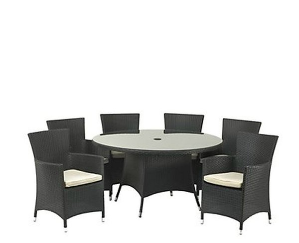 6 Seater Black Outdoor Dining Sets