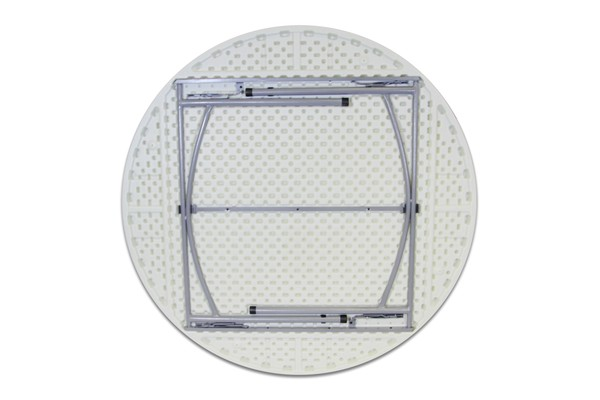 Strong plastic round table