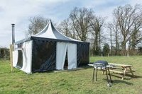 Medieval Glamping Tent - Black and White