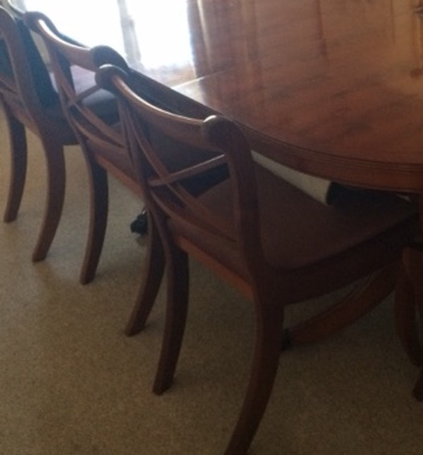 Yew Wood Dining Set