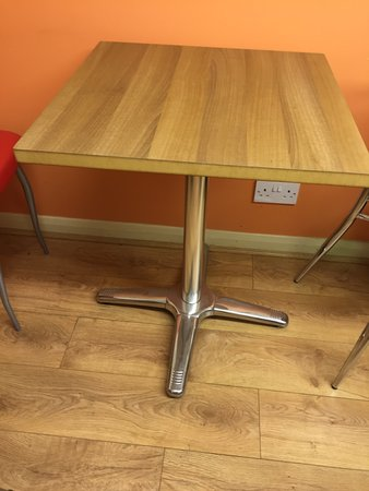 25x Chrome / Teak MDF Laminated Square Tables