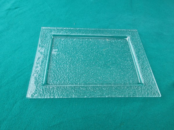 Square Glass Cheese Plates and Petit Fours Plates