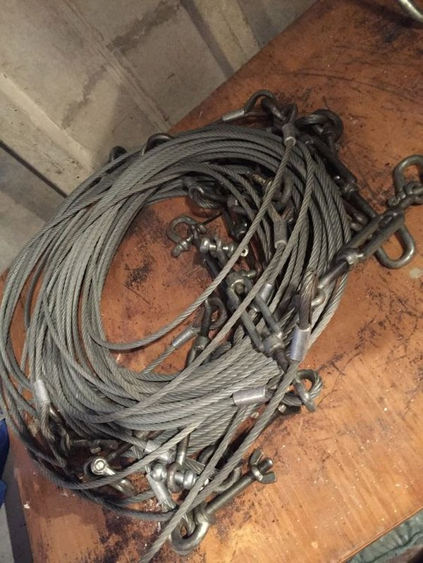 12m roof tension wires (x8)