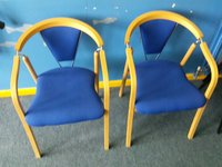 Blue reception chairs