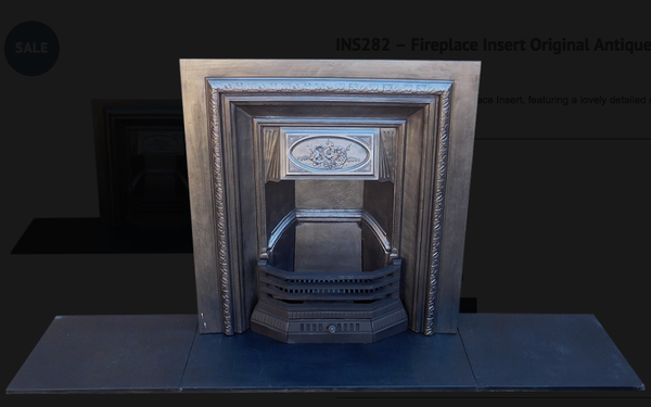 INS282 Fireplace Insert Original Antique