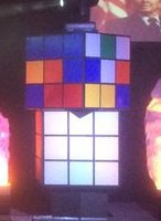 Giant Illuminated  Rubik's Cubes