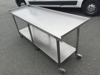 Stainless Steel Prep Table c/w wheels
