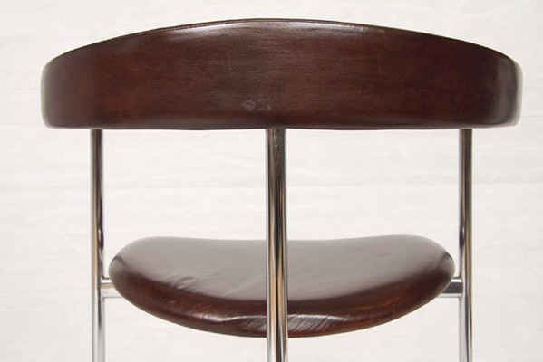 1970's Leather & Chrome Chair