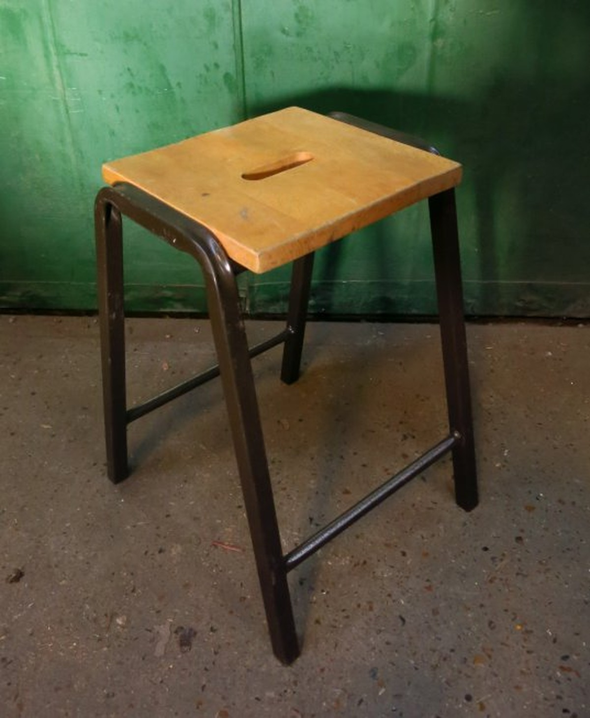 Secondhand Vintage And Reclaimed Industrial Reclaimed Furniture 3x Stools Pressed And