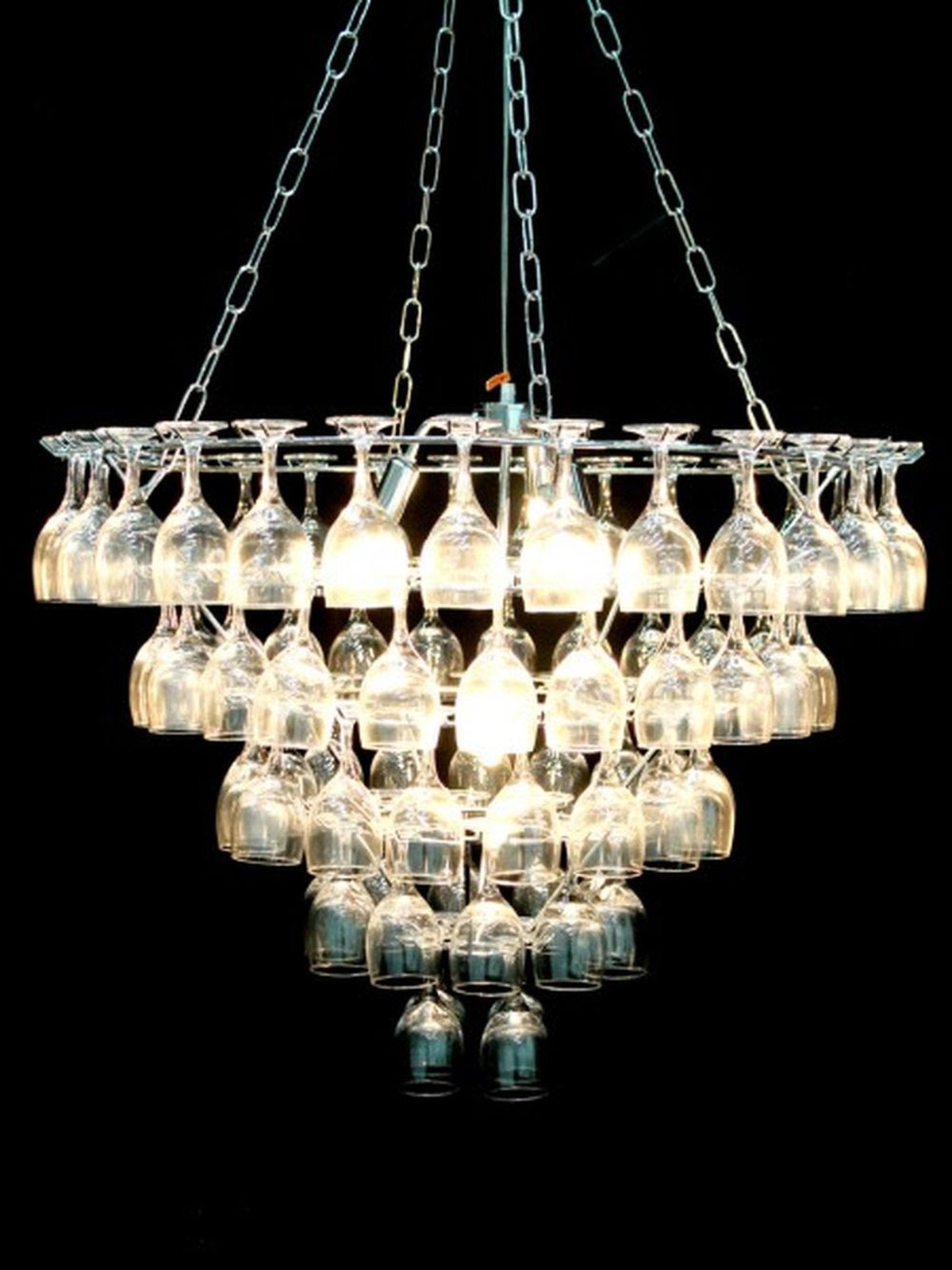 Champagne Glass Chandelier light collections Light Ideas