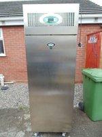 foster single door upright stainless steel freezer