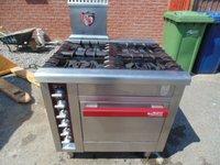 Charvet pro-800 4 burner nat gas range cooker with oven